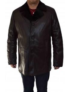Haina blana naturala barbati, din piele naturala, marca Armadis, 09-C4-19-140, maro inchis