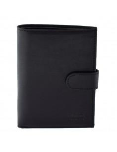 Portofel piele barbati, din piele naturala, marca Bond, 527-01-19-19, negru