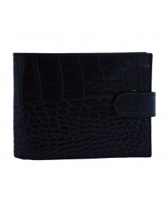 Portofel piele barbati, din piele naturala, marca Bond, 529-01CR-19-19, negru
