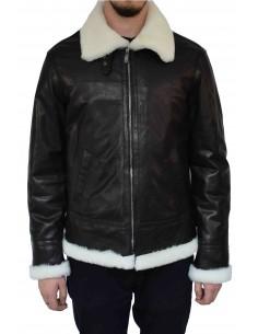 Haina blana naturala barbati, din piele naturala, marca Armadis, A45-01-19-140, negru