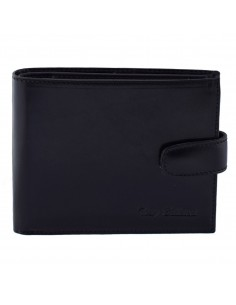 Portofel piele barbati, din piele naturala, marca Bond, T126-01-19-19, negru