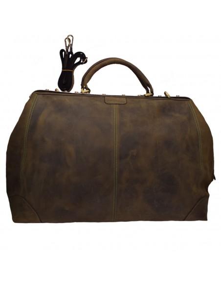 Geanta voiaj, din piele naturala, marca Tony Bellucci, T-5012-05-40-64, kaki