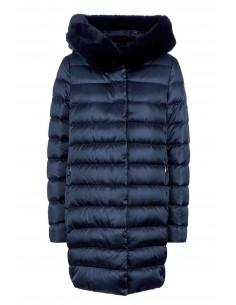 Jacheta textil  dama, din poliamida, marca Geox, W9425Y-T2411-42-06, bleumarin