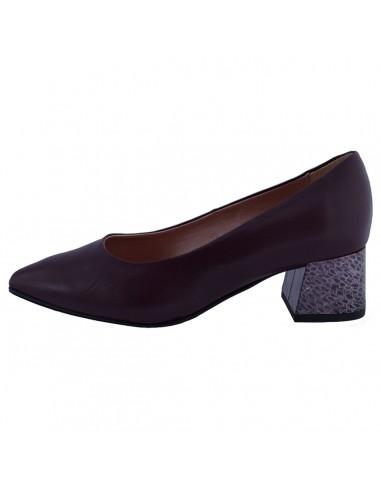 Pantofi dama, din piele naturala, marca Alpina, 80J02-19-30-23, bordo