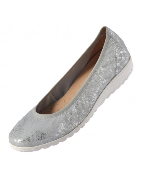 Balerini dama, din piele naturala, marca Caprice, 9-22161-24-18-O-03, argintiu