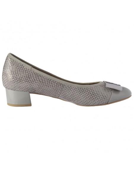 Pantofi dama, din piele naturala, marca Caprice, 9-22307-24-14-O-03, gri