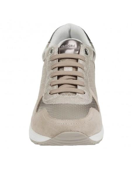 Adidasi dama, din piele naturala, marca Geox, D022SA-C6738-03-O-06, bej