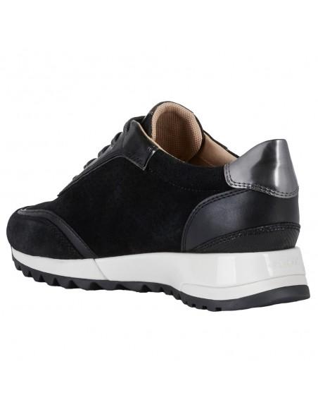 Adidasi dama, din piele naturala, marca Geox, D94AQA-C9B1G-01-O-06, negru