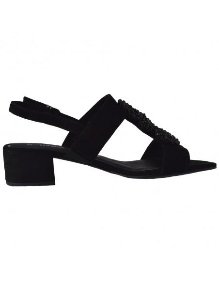 Sandale dama, din piele naturala, marca Marco Tozzi, 2-28204-24-01-O-08, negru