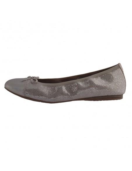 Balerini dama, din piele naturala, marca Tamaris, 1-22129-24-G8-O-10, argintiu deschis