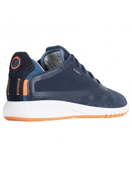 Adidasi barbati, din textil si piele, marca Geox, U027FA-C4002-42-O-06, bleumarin