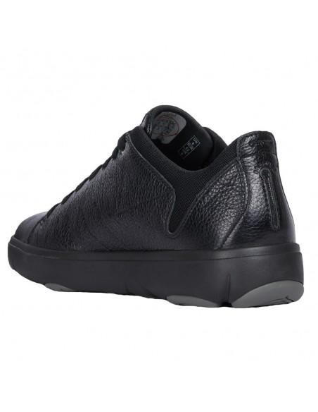 Adidasi barbati, din piele naturala, marca Geox, U948FA-C9999-01-O-06, negru