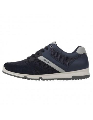 Adidasi barbati, din piele naturala, marca Geox, U023XC-C4002-42-O-06, bleumarin
