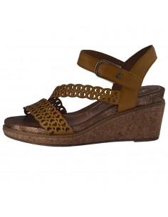 Sandale dama, din piele naturala, Tamaris, 1-28022-24-08-O-10, galben