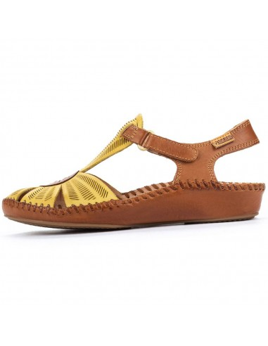 Sandale dama, din piele naturala, Pikolinos, 655-0575-J8-O-21, galben deschis