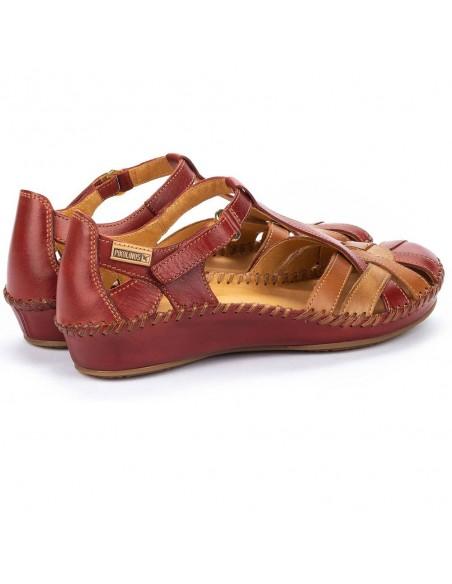 Sandale dama, din piele naturala, Pikolinos, 655-0732C5-05-O-21, rosu