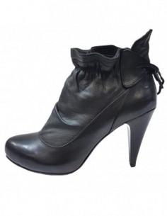 Botine dama, piele naturala, marca Le Scarpe, Cod 206-01-85, culoare negru