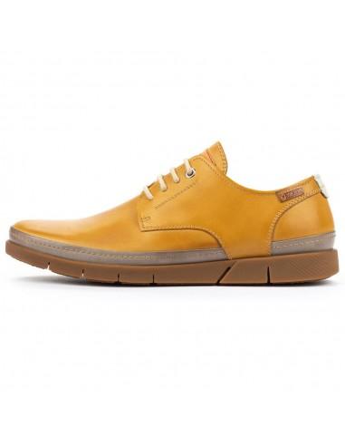 Pantofi barbati, din piele naturala, Pikolinos, M0R-4339C1-J8-O-21, galben deschis
