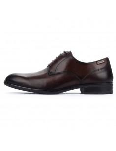 Pantofi barbati, din piele naturala, Pikolinos, M7J-4187-C4-O-21, maro inchis