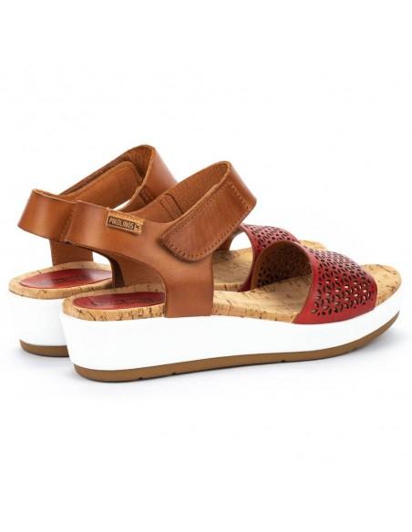 Sandale dama, din piele naturala, Pikolinos, W1G-1733C1-37-O-21, corai