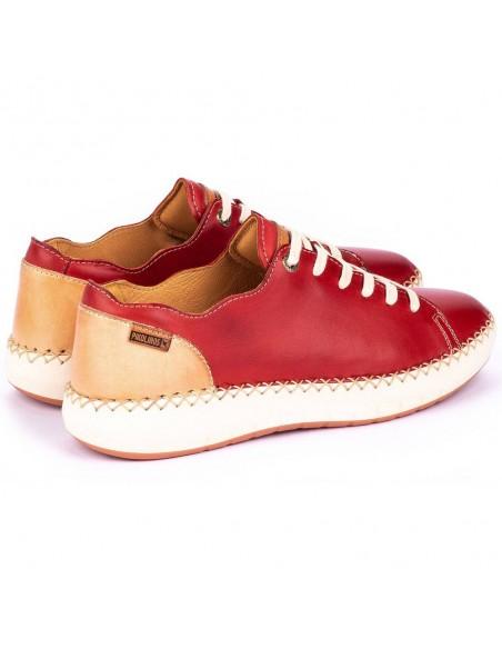 Pantofi dama, din piele naturala, Pikolinos, W6B-6836-37-O-21, corai