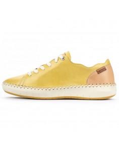 Pantofi dama, din piele naturala, Pikolinos, W6B-6836-J8-O-21, galben deschis