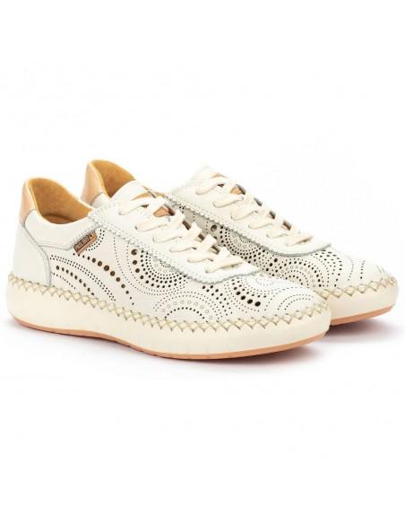 Pantofi dama, din piele naturala, Pikolinos, W6B-6996-52-O-21, crem