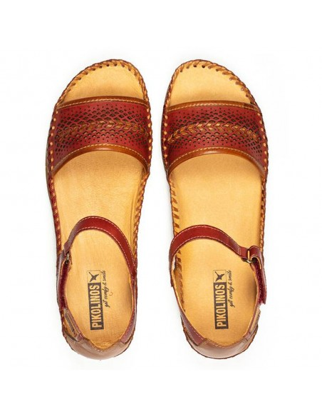 Sandale dama, din piele naturala, Pikolinos, W8K-1875-05-O-21, rosu
