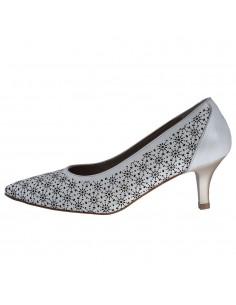 Pantofi dama, din piele naturala, Dorking, D7815-EF-J9-O-136, alb murdar