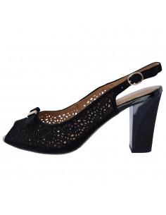 Sandale dama, din piele naturala, Deska, 37232-01-O-33, negru