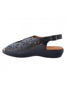 Sandale dama, din piele naturala, Alpina, 0S401-01-O-23, negru