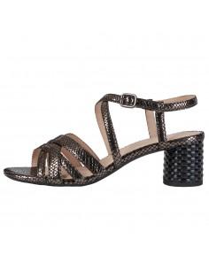 Sandale dama, din piele naturala, Geox, D02GNB-C1184-48-O-06, negru/argintiu