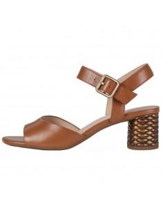 Sandale dama, din piele naturala, Geox, D02GNC-C6001-16-O-06, coniac