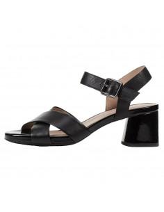 Sandale dama, din piele naturala, Geox, D02HAB-C9999-01-O-06, negru