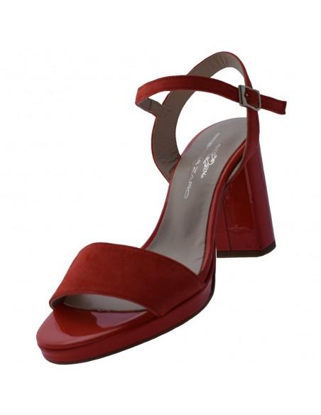 Sandale dama, din piele naturala, Brenda Zaro, T3556-37-O-84, corai
