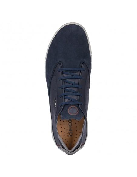 Adidasi barbati, din piele naturala, Geox, U927FA-C4064-42-P-06, bleumarin