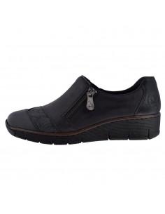Pantofi dama, din piele naturala, marca Rieker, 53761-00-01-P-22, negru