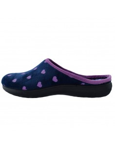 Papuci de casa dama, din textil, marca Inblu, EC000052-42-P-89, bleumarin