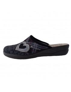 Papuci de casa dama, din textil, marca Inblu, CF000026-01-P-89, negru