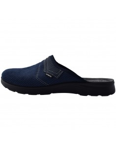 Papuci de casa barbati, din textil, marca Inblu, BG000037-42-P-89, bleumarin