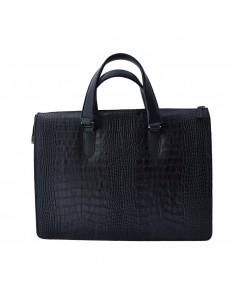 Geanta barbati, din piele naturala, marca Bond, 1081-01-P-19, negru