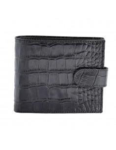 Portofel piele barbati, din piele naturala, marca Bond, 501-356-01-P-19, negru