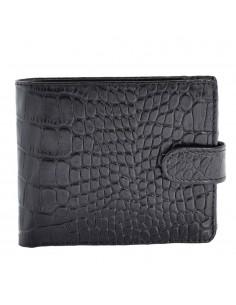 Portofel piele barbati, din piele naturala, marca Bond, 516-356-01-P-19, negru