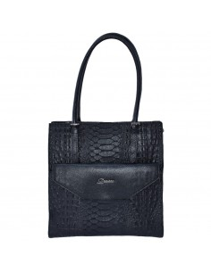 Geanta dama, din piele naturala, marca Desisan, 7138-01-P-26, negru