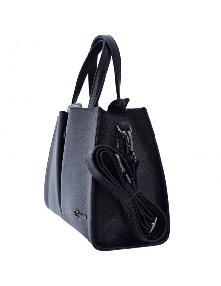 Geanta dama, din piele naturala, marca Desisan, 6043-01-P-26, negru