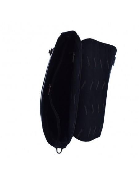 Geanta barbati, din piele naturala, marca Desisan, 800-011-01-P-26, negru