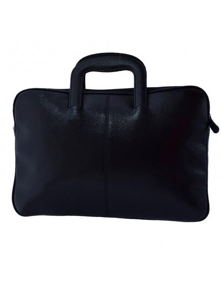 Geanta barbati, din piele naturala, marca Desisan, 321-01-01-P-26, negru