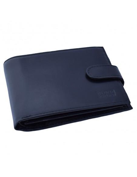 Portofel piele barbati, din piele naturala, marca Bond, 545-01-01-19, negru