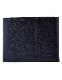 Portofel piele barbati, din piele naturala, marca Bond, 543-281-01-19, negru