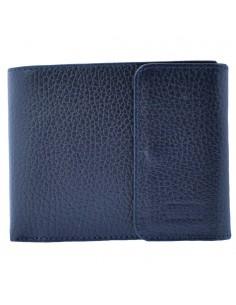 Portofel piele barbati, din piele naturala, marca Bond, 543-1170-42-19, bleumarin